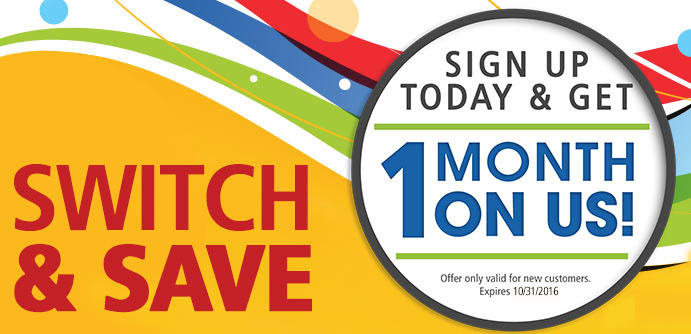 Switch today and get one month free!